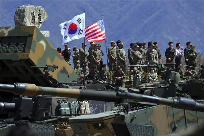 Angkatan Udara Republik Korea-AS melakukan latihan perang gabungan  - ảnh 1
