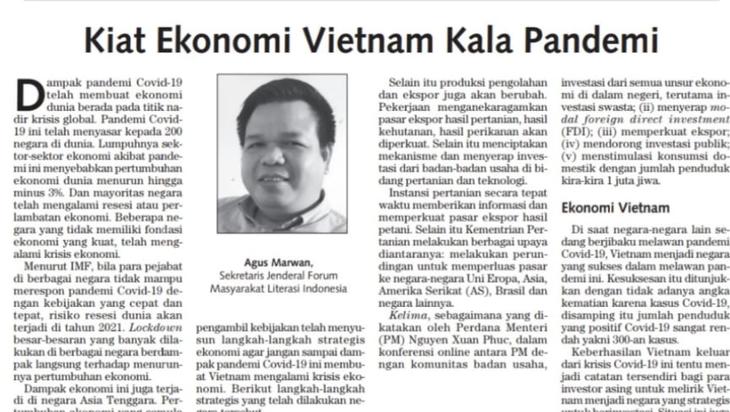 Sarjana Indonesia menilai tinggi keberhasilan Vietnam dalam mencegah dan memberantas wabah Covid-19 - ảnh 1