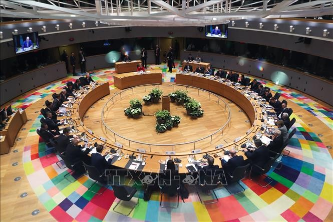 Uni Eropa menetapkan waktu melakukan KTT online pertama sejak merebaknya wabah Covid-19 - ảnh 1