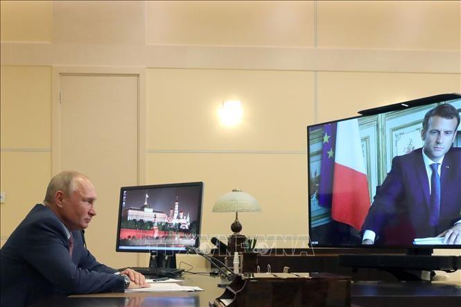 Pemimpin Rusia-Perancis melakukan pembicaraan online - ảnh 1