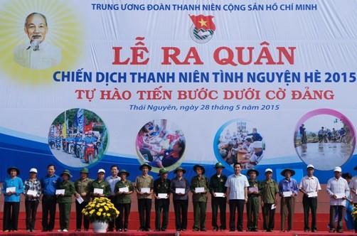 Upacara Pemberangkatan Pasukan Kampanye Pemuda Relawan Musim Panas 2020 - ảnh 1