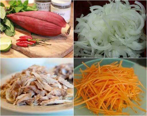 Perkenalan sepintas resep makanan salad bunga pisang daging ayam - ảnh 3