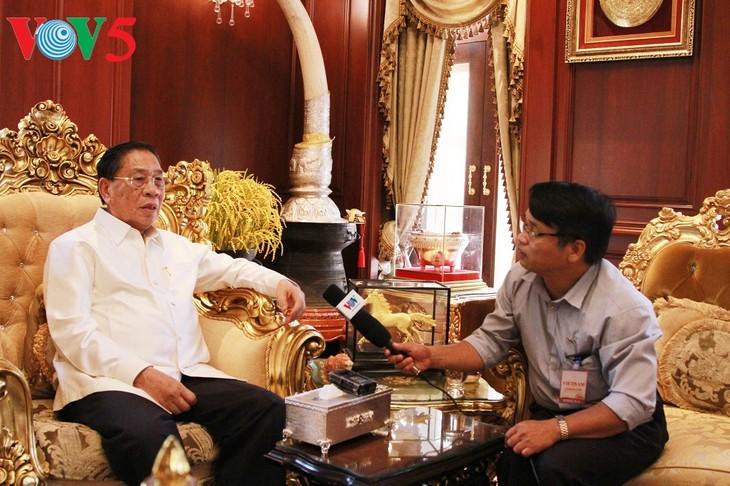 Sekjen KS PKV, Le Kha Phieu, seorang teman yang besar dari Partai dan Rakyat Laos - ảnh 1