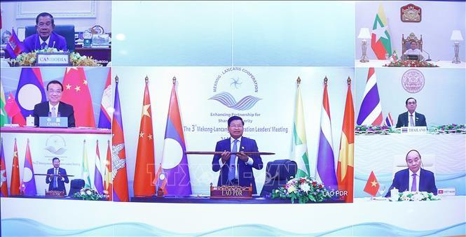 Pemimpin negara-negara MLC menilai tinggi prestasi-prestasi dalam kerjasama Mekong-Lancang - ảnh 1