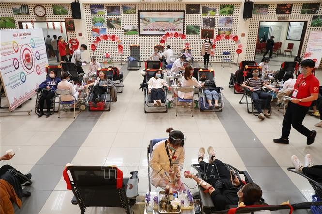 "Festival ""Musim Semi Merah"" 2021 Terima Lebih Dari 8.300 Unit Darah, Melampaui Rencana yang Ditetapkan - ảnh 1"