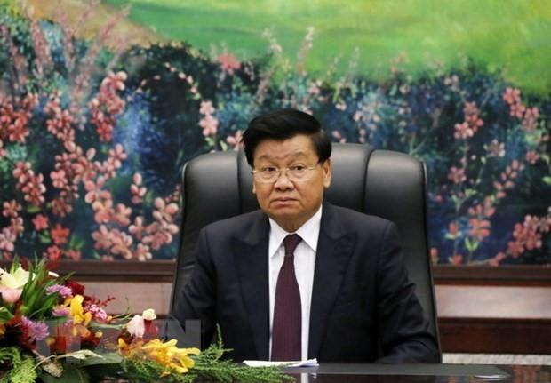 Sekjen, Presiden Laos, Thongloun Sisoulith Mulai Kunjungan Persahabatan Resmi di Vietnam - ảnh 1