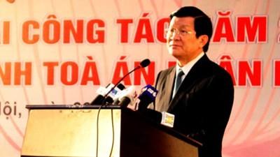Staatspräsident legt Aufgaben des Gerichtshofs im Jahr 2013 fest - ảnh 1