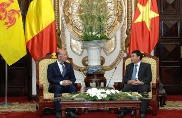 Staatspräsident empfängt Ministerpräsident der Wallonischen Region - ảnh 1