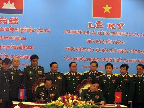 Verstärkung der Zusammenarbeit zwischen den Verteidigungsministerien Vietnams und Kambodschas - ảnh 1