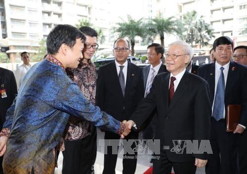 Nguyen Phu Trong: Vertrauen auf Entwicklung in Handelszusammenarbeit zwischen Vietnam und Indonesien - ảnh 1