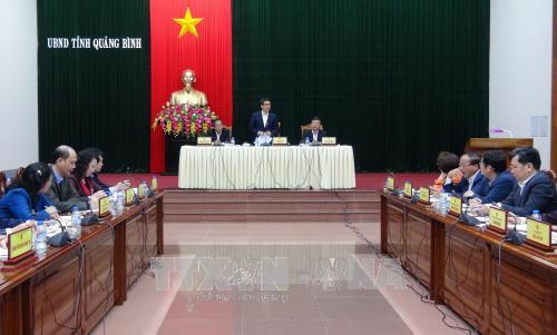 Vize-Premierminister Vu Duc Dam führt Arbeitstreffen mit Verwaltern der Provinz Quang Binh - ảnh 1
