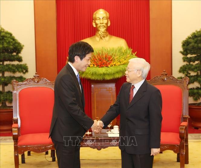 KPV-Generalsekretär Nguyen Phu Trong empfängt Sonderbeauftragte des japanischen Premierministers - ảnh 1