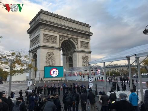 Frankreich begeht 100. Jahrestag des Endes des Ersten Weltkrieges - ảnh 1
