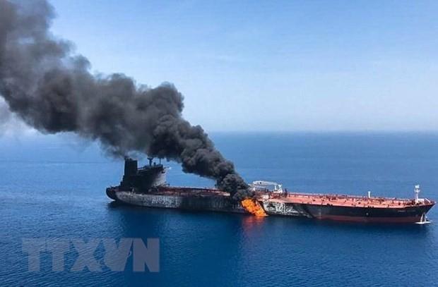 Tanker-Angriff im Golf von Oman: USA lassen militärisches Vorgehen gegen Iran offen - ảnh 1