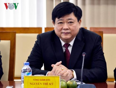 VOV-Intendant Nguyen The Ky empfängt Indiens Botschafter in Vietnams - ảnh 1