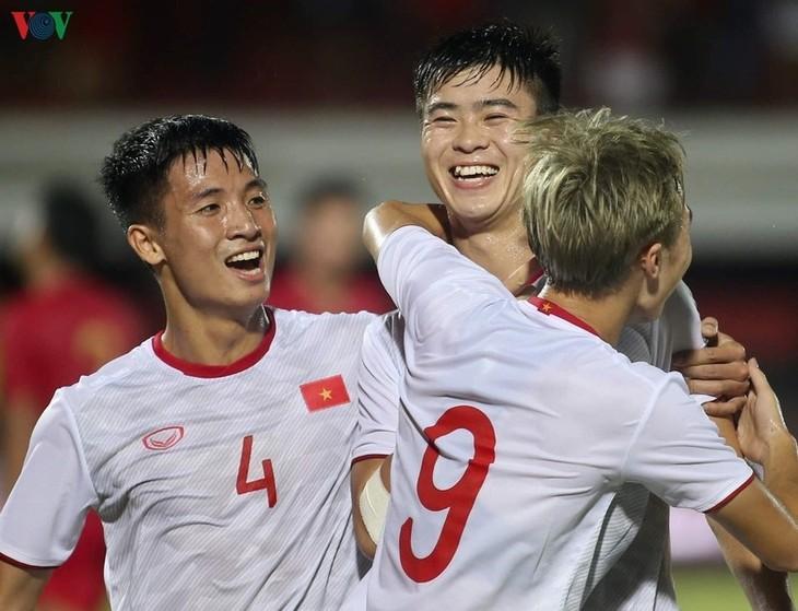 Vietnam setzt sich in der Qualifikationsrunde der WM 2022 mit 3:1 gegen Indonesien durch - ảnh 1