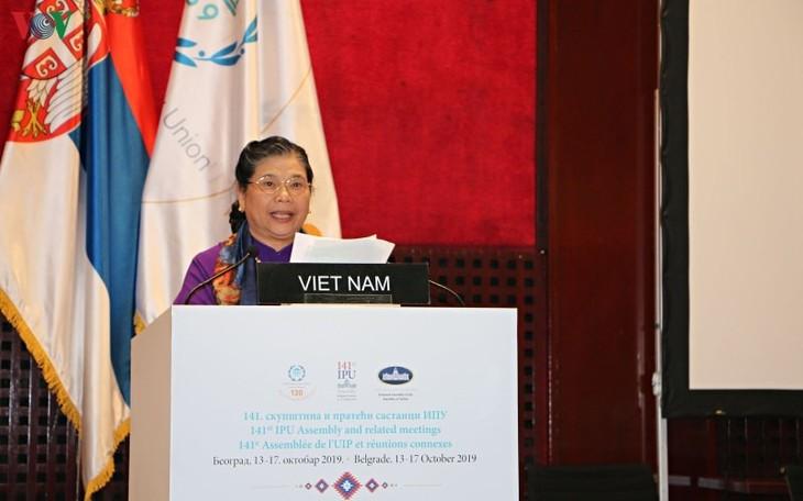Tätigkeiten der Vize-Parlamentspräsidentin Tong Thi Phong in der 141. interparlamentarischen Vollversammlung (IPU) - ảnh 1