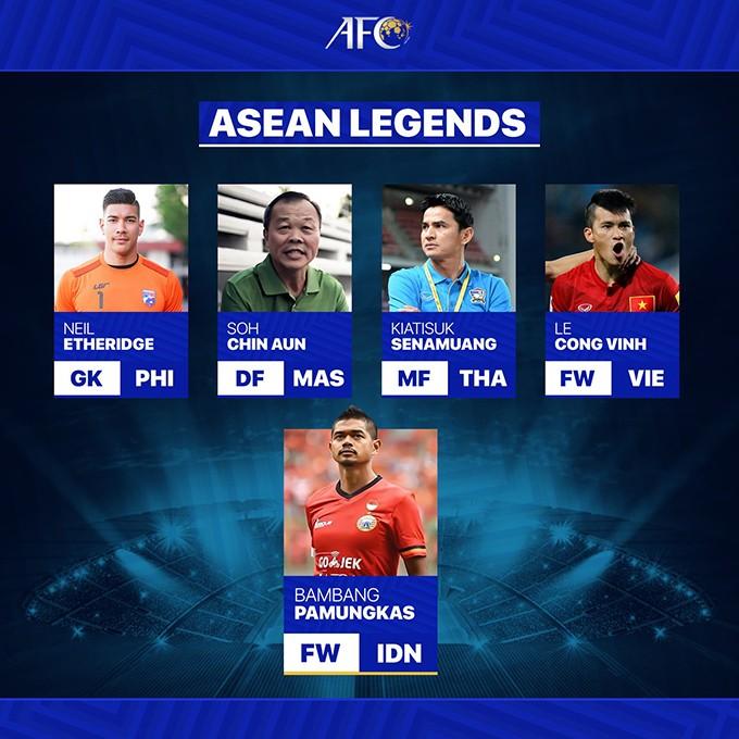 Cong Vinh ist einer der fünf legendären Fußballspieler in Südostasien - ảnh 1