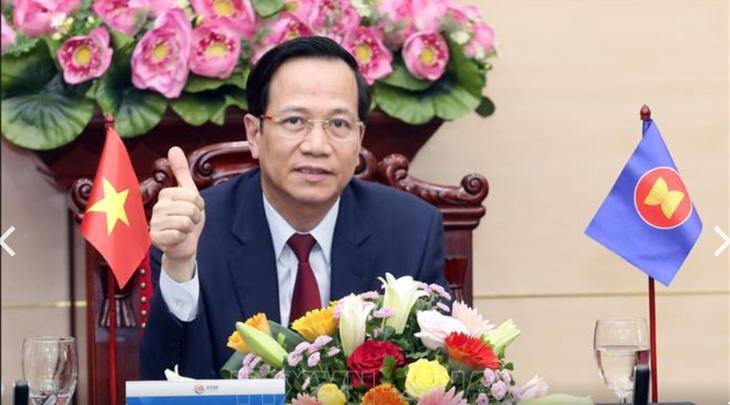 ASEAN-Arbeitsminister tagen über Reaktion auf die von der Covid-19-Epidemie verursachten Auswirkungen auf Arbeitsplätze - ảnh 1