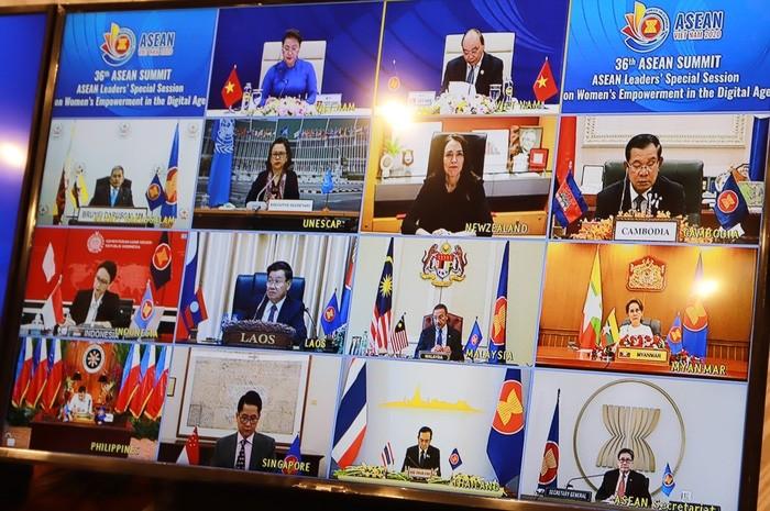 Delegierte schätzen ASEAN-Sondersitzung über Verstärkung der Kompetenzen der Frauen im digitalen Zeitalter - ảnh 1