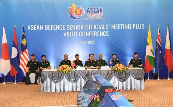 Erweiterte Online-Konferenz der hochrangigen ASEAN-Militärbeamten - ảnh 1
