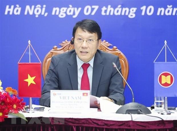 Vietnam setzt sich aktiv und verantwortungsbewusst für die ASEAN-Zusammenarbeit zur Gewährleistung der Cyber-Sicherheit  - ảnh 1