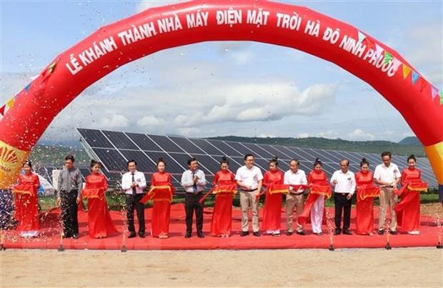 Einweihung des Solarkraftwerks mit einer Investition von mehr als 43 Millionen US-Dollar in Ninh Thuan - ảnh 1