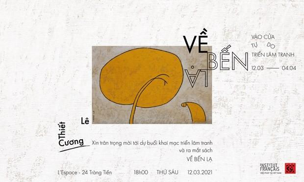 Maler Le Thiet Cuong zeigt Gemälde aus Gedichten von Dang Dinh Hung - ảnh 1