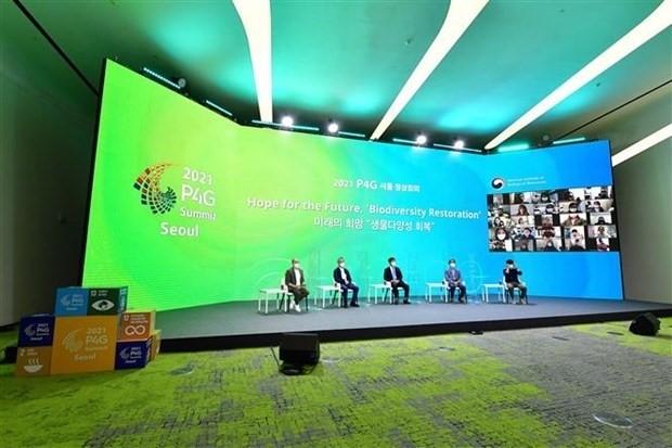 P4G-Gipfel: Entwicklung von intelligenten Städten hilft, Emissionen zu reduzieren - ảnh 1