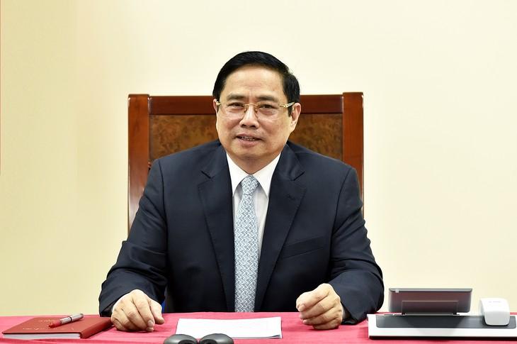 Premierminister Pham Minh Chinh führt ein Telefonat mit seinem französischen Amtskollegen - ảnh 1