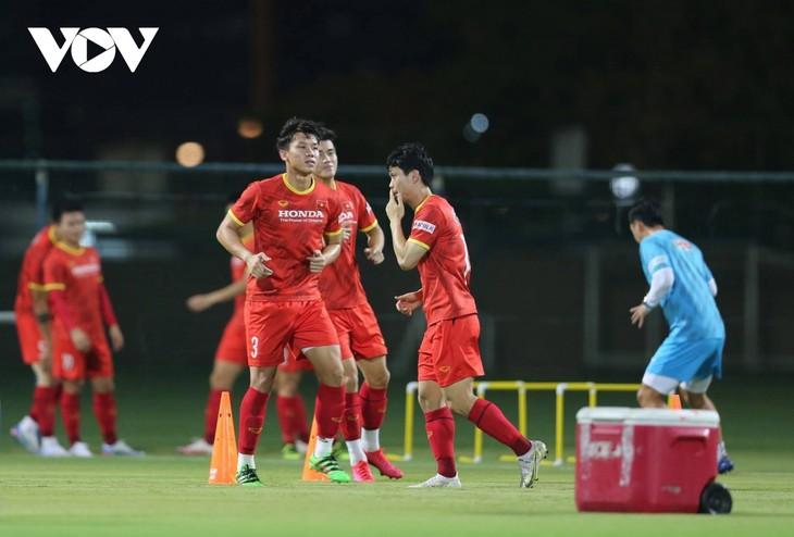 Qualifikationsrunde der WM 2022: Vietnams Mannschaft ist bereit für das Spiel gegen VAE - ảnh 1