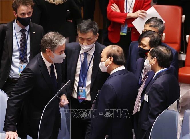 Staatspräsident trifft Leiter der an der UN-Generalversammlung beteiligten Delegationen - ảnh 1