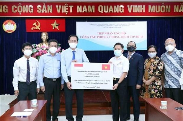 Ausländische Unternehmen und Gemeinschaft in Ho-Chi-Minh-Stadt unterstützen die Covid-19-Bekämpfung - ảnh 1