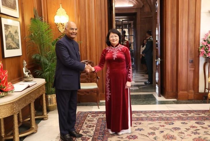 당 티 응옥 틴 국가부주석, 람 나트 코빈드 인도 대통령과 회견 - ảnh 1