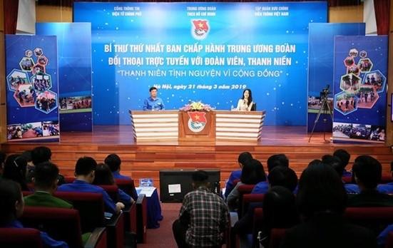 청년단 중앙 제1서기와 단원 및 청년간 '베트남 청년의 갈망'을 주제로 온라인 대화 - ảnh 1