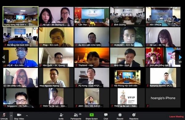베트남 청년연합중앙, 제6회 유럽 베트남 유학생 축제 준비에 관한 정보를 공유 - ảnh 1