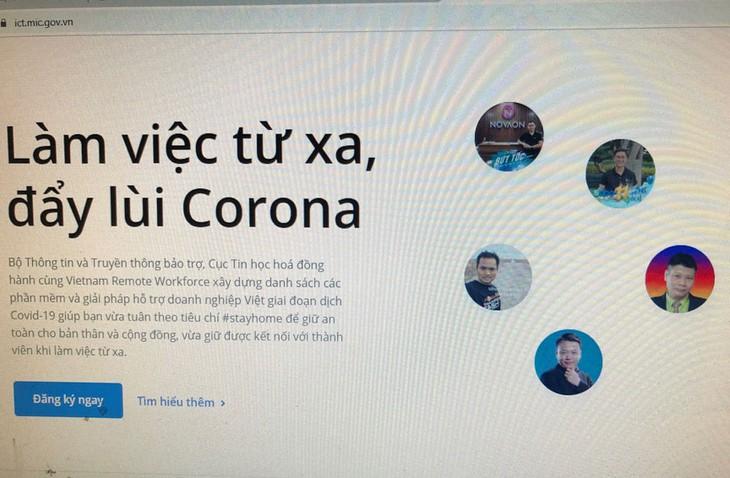 정보통신응용국, 코로나19 상황 웹사이트 구축 - ảnh 1