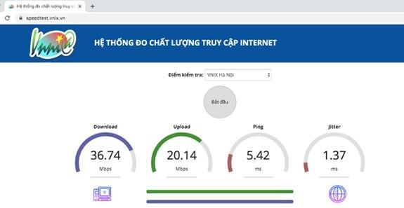 베트남 인터넷 데이터 다운로드 표준 기본적으로 충족 - ảnh 1