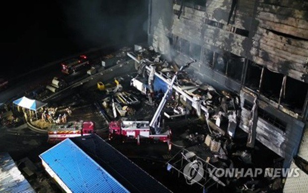 한국에서 화재로 사망자 38명 발생 - ảnh 1