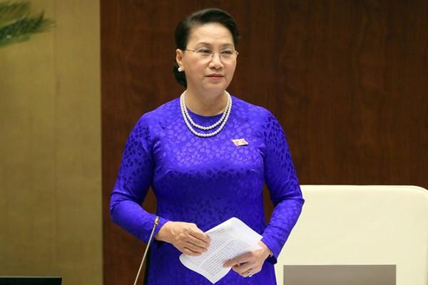 응우옌 티 낌 응언 국가선거회의 의장으로 선출 - ảnh 1