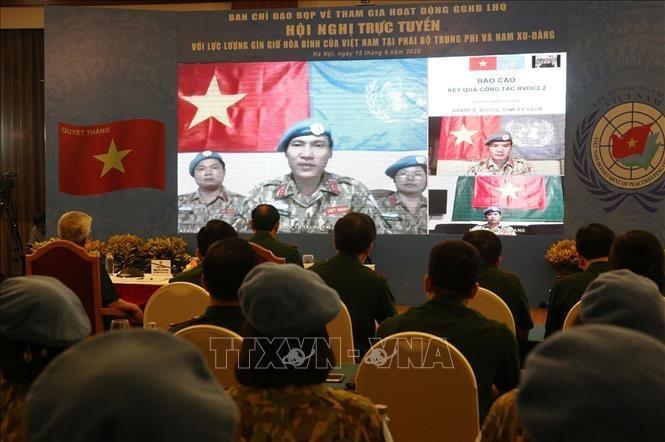 """응우옌 찌 빈 상장, """"평화유지군, 비전통적 안보 문제 대응에 만전 기해야"""" - ảnh 1"""