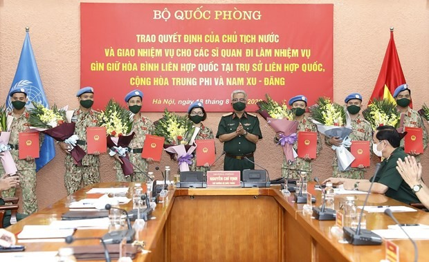 베트남 장교 10명, 유엔 평화유지활동 참여 - ảnh 1
