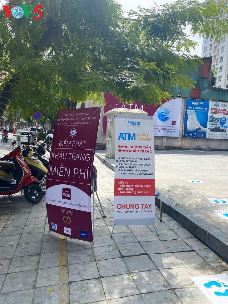 VOV, VTC, 베트남 국조의 날 사업 위원회, 의료용 마스크 기증 캠페인 진행 - ảnh 1
