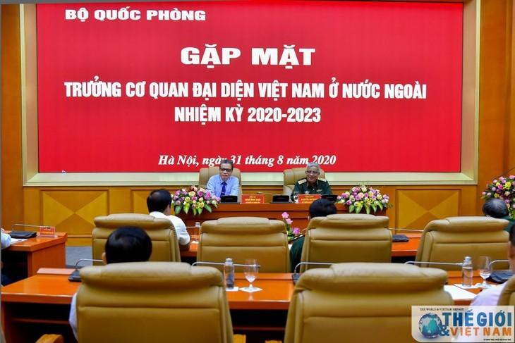 국방부 지도자, 해외 베트남 대표기관장들과 만남 - ảnh 1