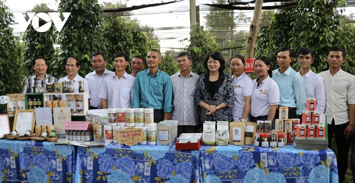 당 티 응옥 틴 부주석, 자라이성 혁명 유공자와 빈곤층 학생들 위해 선물과 장학금 전달 - ảnh 1