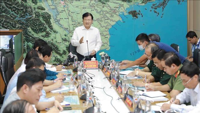 다섯 번째로 강타하는 동해안 폭풍 NOUL에 대응하기 위한 회의 - ảnh 1