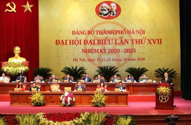 하노이 당위원회 제17차 대표대회 개막 - ảnh 1