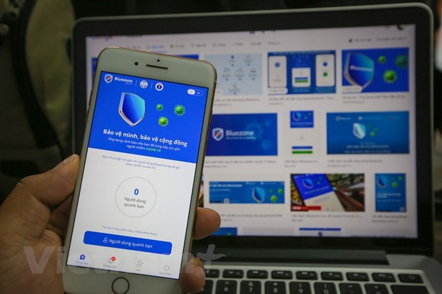 코로나19: 블루존 앱 다운로드 횟수 3천만회 초과 - ảnh 1
