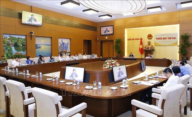 응우옌 칵 딘 국회부의장, 법문정보선전소위원회 회의 주재 - ảnh 1
