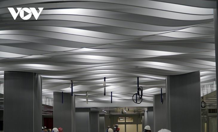 호찌민시, 메트로 1호선 바선(Ba Son)역 지하 1층 역사 완공 - ảnh 2